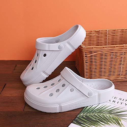 Hausschuhe Pantoletten Slipper Damen Herren Mode Poröse Schuhe Anti-Rutsch-Verschleiß Beständig Kreative Massage Strand Hausschuhe Hausschuhe Herren Schuh-Grau_42-43