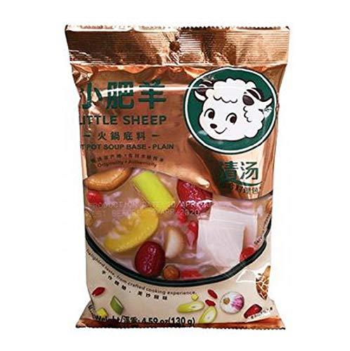 Little Sheep Hot Pot Soup Base (Plain), 130-Grams (Pack of 5)