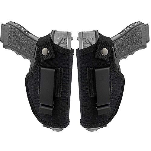 D&XQX Glock PDI Pistolera, Universal Pistolera De La Pistola De La Pretina De La Pistolera Adapta S & W M & P Shield, Glock 26 27 29 30 33 42 43, Ruger LC9,2 Paquete