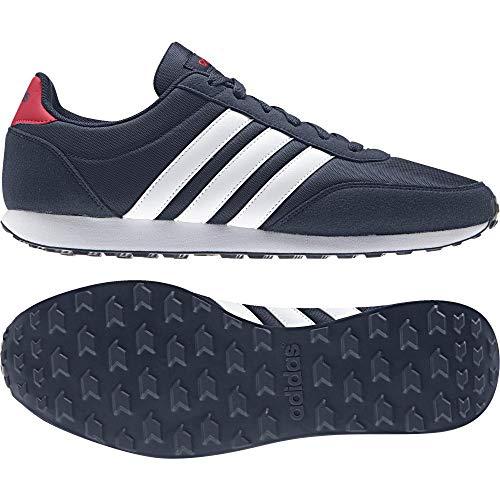 Adidas V Racer 2.0, Zapatillas de Deporte para Hombre, Azul Maruni Ftwbla Escarl 000, 38 2/3 EU