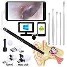 Plaisiureux 耳かき カメラ スコープ 高画質 みみかき 耳かきセット 顕微鏡 耳掃除 写真撮影 マイクロスコープ