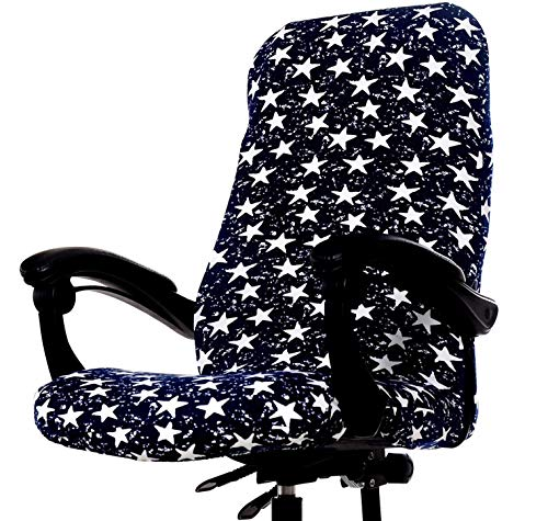 Computer Office Chair Cover,Protective Stretchable Chair Covers Stretch Chair Slipcover (P)