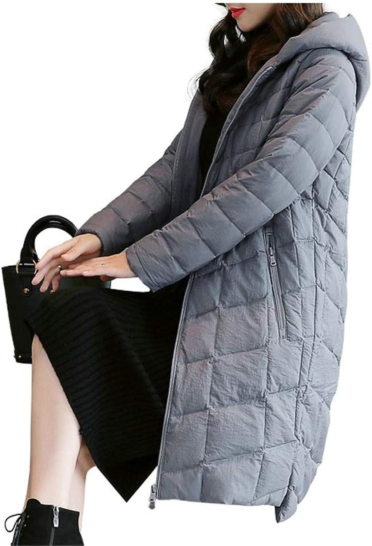 Warm Hooded Irregular Hem Ladies Down Jacket Women Coat