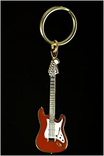 Electric Guitar Key Chain - Red