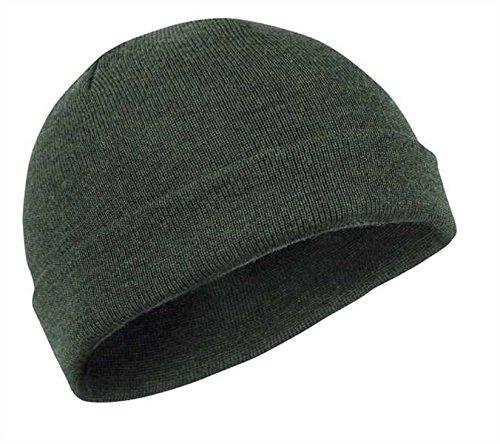 Commando Bonnet à roulettes en laine mérinos (court) Olive