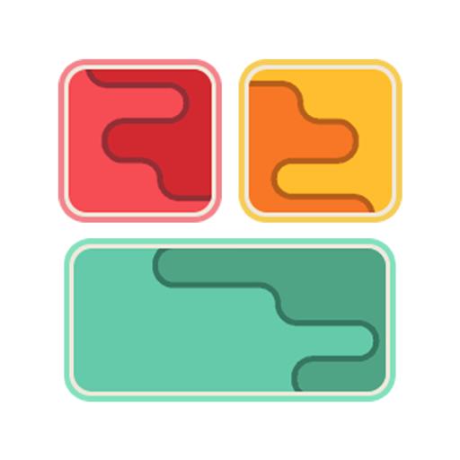 Slide Puzzle - Drop and Merge Block Cubes