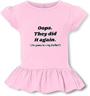 Oops They Did It Again. I'm Gonna Be A Big Brother! Cotton Girly T-Shirt