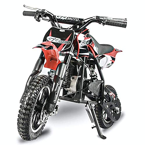 Fit Right 2020 DB001 49CC 2-Stroke Kids Dirt Off Road Mini Dirt Bike, Kid Gas Powered Dirt Bike Off Road Motorcycle (RED)