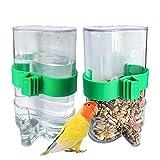 Kaimailai - 2 comederos automáticos para pájaros, dispensador automático de agua, para periquitos, canarios, cacatúas, pinzones, periquitos, semillas