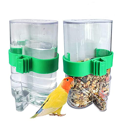 Kaimailai 2 stücke Automatische Vogel Feeder, Vögel Automatischer Wasserspender, Pet Feeder, für Wellensittiche, Kanarienvögel, Nymphensittiche, Finken, Sittiche, Samen, Lebensmittelbehälter
