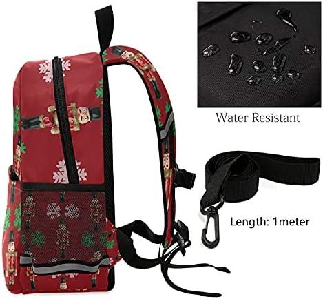 Сhristmas Gift Toddler School Bag Kids Backpack Red Nutcrackers Kindergarten Schoolbag Preschool Nursery Travel Bag with Safety Leash Harness for Baby Boys Girls 3-8 Years
