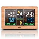Irfora Stazione meteorologica wireless Indoor Outdoor 3-in-1 Meteo Termometro Igrometro Barometro Monitor della temperatura ambiente alimentato tramite USB Misuratore di umidità a batteria Indicatore