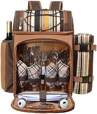 Hap Tim Picnic Backpack Cooler for 4 Person with Insulated Leakproof Cooler Bag Wine Holder product image