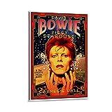 JHGKJH David Bowie Carnegie Hall 1972 - Póster de pared y póster moderno para dormitorio familiar (50 x 75 cm)