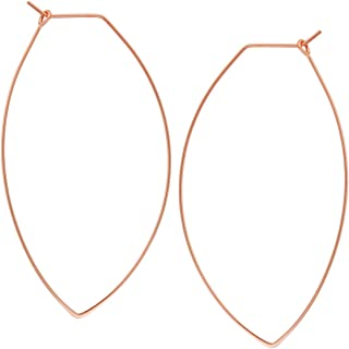 pure rose gold earrings