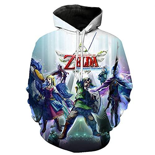 Sudadera con Capucha niño Kid's/Youth 3D Printed Novelty Hoodies The Legend of Zelda Hooded Sweatshirt Teen Boys Girls Pullover Hoodies-WY_XL