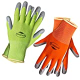 Working Gloves for Women. Comfortable Gardening Gloves Large Size. Breathable Garden Gloves coated with puncture-resistant nitrile (2, Large)