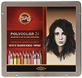 KOH-I-NOOR 3824 - Polycolor 24er Hautfarben Farbstifte Zeichenstifte für Künstler in...