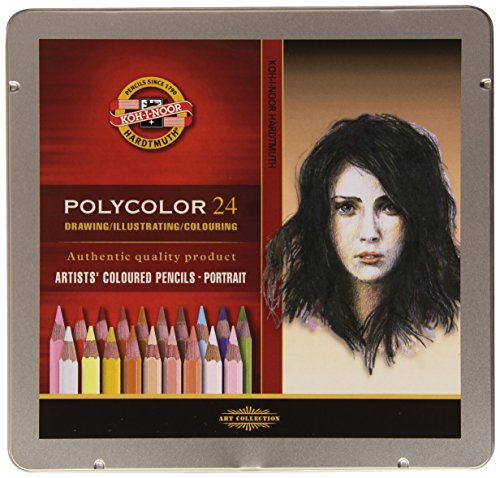 KOH-I-NOOR Polycolor Portrait Artist's Coloured Pencils (Set of 24)