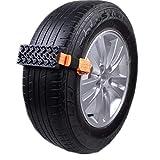 Riloer Cadena Antideslizante Ajustable para Nieve para Automóvil - Cadenas de Neumáticos de Emergencia para Vehículos Universales/Automóviles de Pasajeros/Camionetas/SUV, 2 Piezas