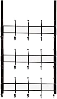 PILIBEIBEI Coat rack  Over The Door Hook Coat Rack with Basket Storage for Coats  Hats  Robes Fit Well Home  amp  Office  2