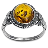 Ian and Valeri Co. Amber Sterling Silver Oval Small Ring
