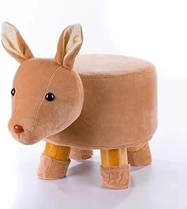 QTQZDD Massivem Holz Kinder hocker,Cartoon kleine plüsch osmanischen kreative Tier hocker für zuhause reiten-auf Änderung Schuh sitzbank gepolstert-Q