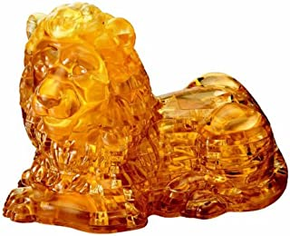 Bepuzzled Original 3D Crystal Puzzle Deluxe - Lion - Fun yet challenging brain teaser that will test your skills and imagination, For Ages 12+