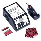 Pulidor de Uñas Aparatos eléctricos y accesorios para manicura y pedicura portátil torno para uñas con 100 bandas de lijado negro