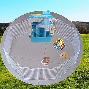 ZZQ Jaulas de hámster Precioso Hamster Jaula para Ratones Piso ...