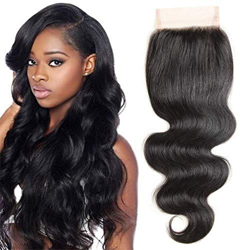 SingleBest Lace Closure Extensions de cheveux humains Hair tissage brésilien ondulés 130% Density Brazilian Body Wave Lace Closure 10inch