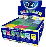 Tetley Indulgence Teabags Variety Box / String & Tag Envelopes / 7 Mixed Flavours / 90 Bags (1 Box)