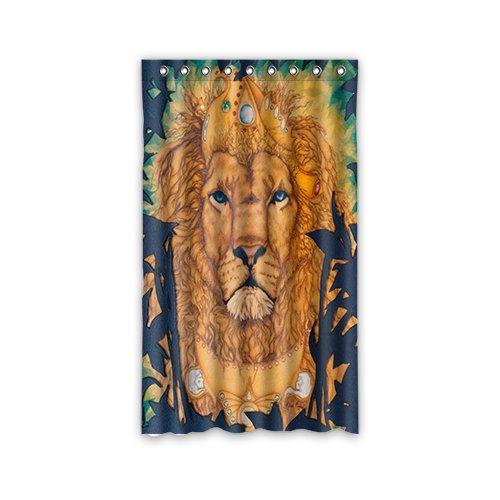 Doubee Custom Duschvorhänge Löwe Lion Anti-Schimmel Fenstergardinen 127cm x 213cm (1 Stück)