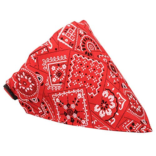GOUSHENG kraag Comfortabele rode huisdier benodigdheden hond lint kraag speeksel sjaal sjaal kraag verstelbare knop kraag driehoek, M