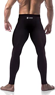 Copper Compression Mens Leggings Pants Tights. Guaranteed Highest Copper Content. Best Copper Infused Active Fit Athletic Activewear Athleisure Form Fitting Black Pants.