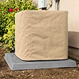 SugarHouse Outdoor Air Conditioner Cover - Premium Marine Canvas - Made in The USA - 7-Year Warranty - 30' x 30' x 36' - Tan