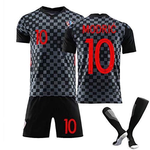 Croatia 20-21 Men's Soccer Jerseys Home and Away T-Shirt Set, Croatia Team Soccer Fans Football Jersey, Mens Short Fans Loungewear Gifts,Modric 10 Away,XL