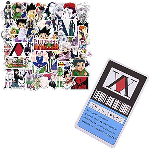 1 Star Hunter Lizenzkarte 50 Stück Anime-Aufkleber Hunter x Hunter Cosplay