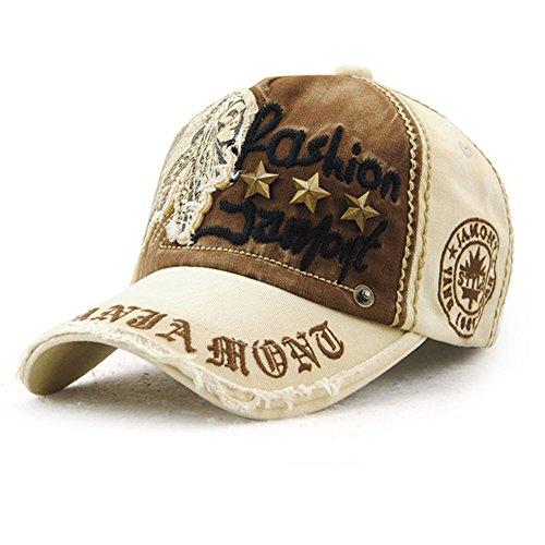 Tioamy Gorra de béisbol Unisex Ajustable Hat Retro Baseball Cap Algodón Fashinable Ocio Carta Sombrero Exterior para Hombres y Mujeres