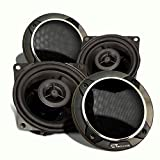 """CT Sounds 4 Inch Car Door Speakers - 60W(MAX) Power Per Speaker, 4-Ohm Impedance, 1"""" Voice Coil, Coaxial, Rubber Edge with Woofer Protection Grilles, Silk Dome Tweeter Attached, Pair – Strato 4 Coax"""