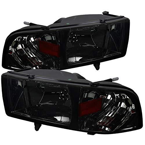 Carpartsinnovate For 94-01 Dodge Ram 1500 2500 3500 Pickup Chrome Smoke Headlights+Corner Lamps Pair