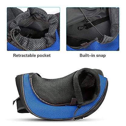 PETEMOO Pet Sling Carrier Bag, Hand-Free Dog Cat Outdoor Travel Shoulder Bag with Adjustable Strap& Zipper 7