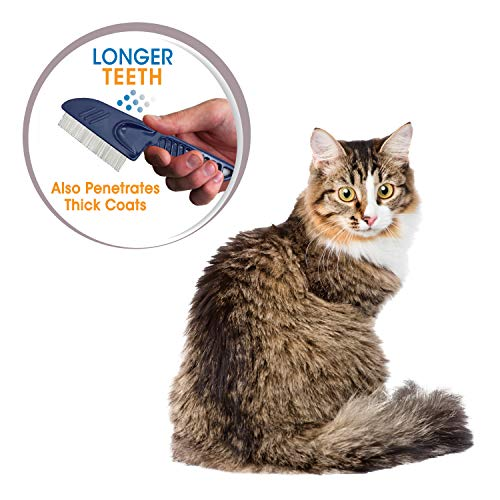 Four Paws Magic Coat Long Tooth Flea Catcher Comb for Cats