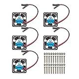 WINSINN 30mm Cooling Fan, Works with Raspberry Pi iUniker Brushless Dual Ball Bearing 3.3V 5V 30x10mm (Pack of 5Pcs)