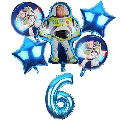 LIZHIOO Ballon gesetzt Toy Story 4 Buzz Lightyear Geschichte Luftballons Cartoon Folie Helium 32 Zoll Anzahl Blaue Ballone Spielzeug Happy Birthday Balloons Air Globo (Color : Light Green)