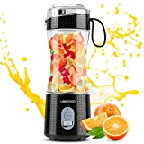 Portable Blender, UBEGOOD Personal Size Blenders Moothies and Shakes, USB Rchargeable Fruit Mixer Machine, Small Mini Juicer Cup for Home/Travel, 380ML/13oz (Black)