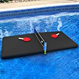 Polar Whale Floating Ping Pong Table Pool Party Table Tennis Float Game Durable Black Foam 5 Feet Long Uv...