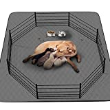 """CoolShields Washable Puppy Dog Pee Pad, 72"""" X72"""" Extra Large, Waterproof Whelping Training Mat for Playpen Crate, Floor, Bed,Sofa and Trunk [Premium Fabrics That can be Used by Humans]"""