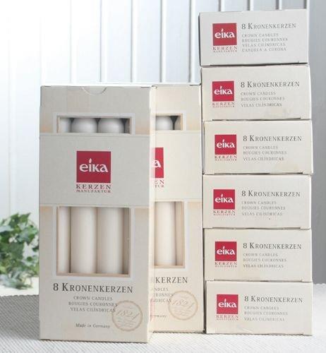 Eika 64 Kronenkerzen/Haushaltskerzen (8x8er-Pack), Champagner