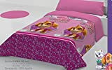 TEDSA Funda NÓRDICA 100% ALGODÓN Cama de 90 cm Rosa Modelo Patrulla Canina